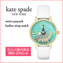 【国内発送】metro peacock leather strap watch セール