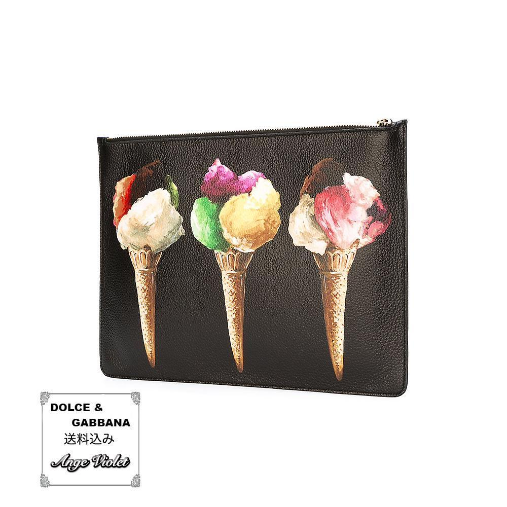 送込*DOLCE & GABBANA*ice-cream print clutch