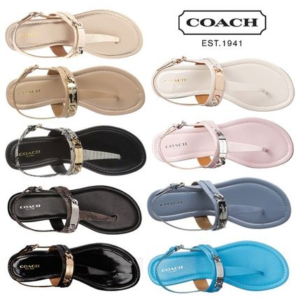 SALE COACH CATERINE thong sandals