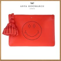 Anya Hindmarch(アニヤハインドマーチ) ポーチ ★関税&送料込★Anya Hindmarch 新作★Georgiana Smiley pouch
