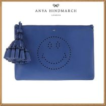Anya Hindmarch(アニヤハインドマーチ) ポーチ ★関税&送料込★Anya Hindmarch 新作★Smiley pouch in leather