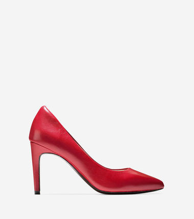 Cole Haan Eliza Grand Pump (85mm) Tango Red Leather セール
