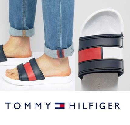 Tommy Hilfiger slider sandal white tax