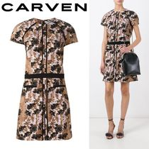 2017SS☆Carven☆Robe Manches デイドレス Brown