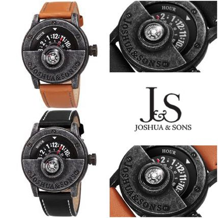 送料込み!! SALE!! Joshua & Sons 腕時計 Men's Compass Watch