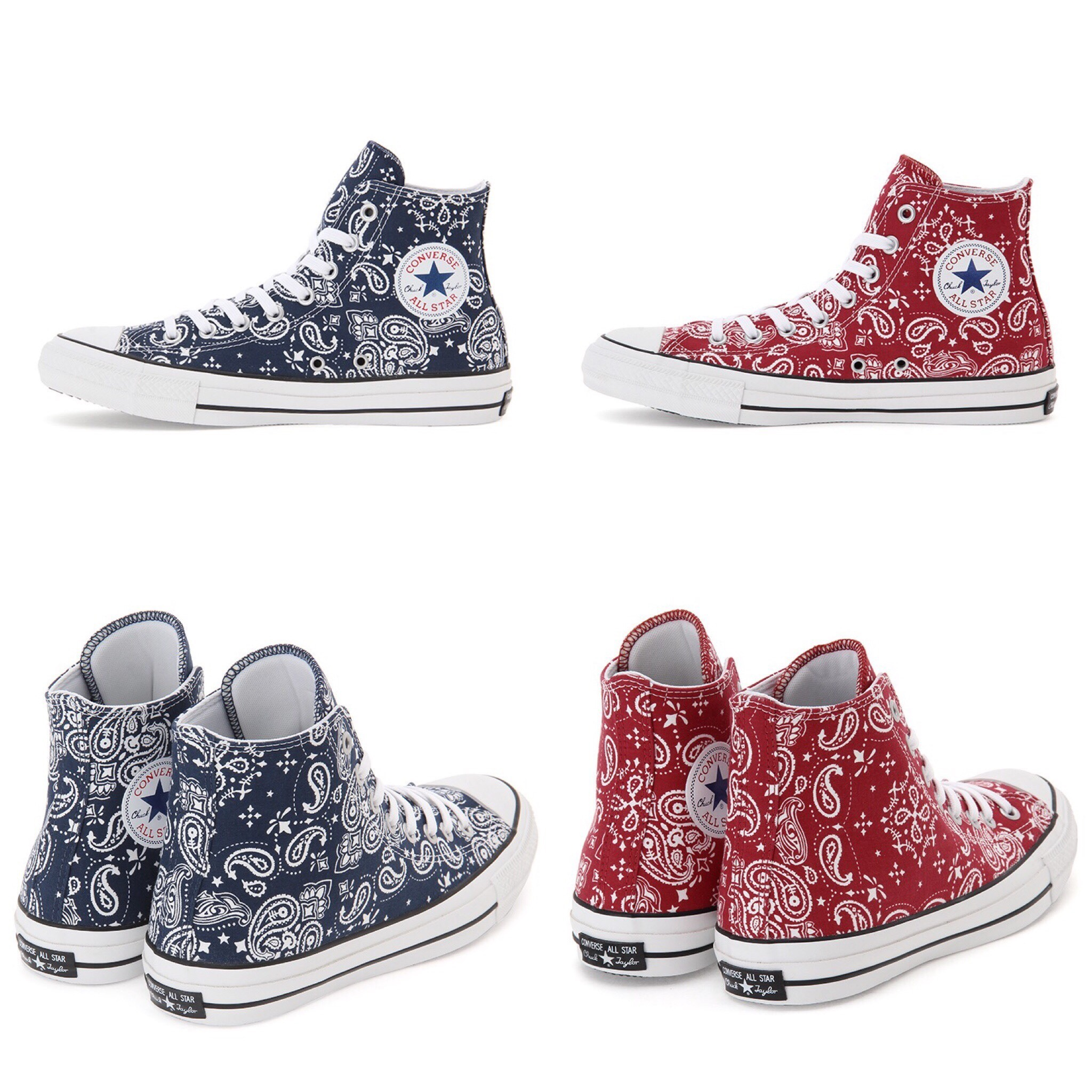 ☆送料無料☆CONVERSE ALL STAR 100 BANDANA HI バンダナ柄