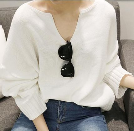Cute adult spring come off feeling loose fit knit