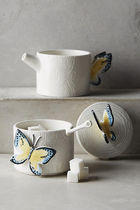 Anthropologie(アンソロポロジー) 容器・ストッカー 追跡・補償あり【宅配便】Butterfly Forest Sugar Pot & Creamer
