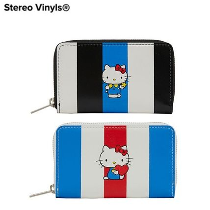 [Stero Vinyls] [Hello Kitty] Stripe Cowhide Leather Wallet