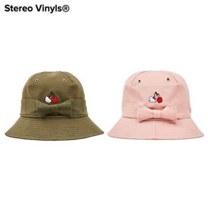 [Stero Vinyls] [Hello Kitty] Ribbon Bucket Hat 2色