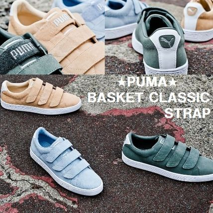 BILLY'S EXCLUSIVE★PUMA BASKET STRAP SUEDE★ナチュラル&青&緑