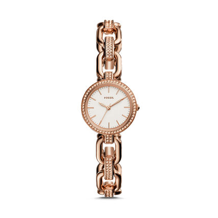 FOSSIL KERSTYN THREE-HAND ROSE GOLD-TONE  WATCH セール