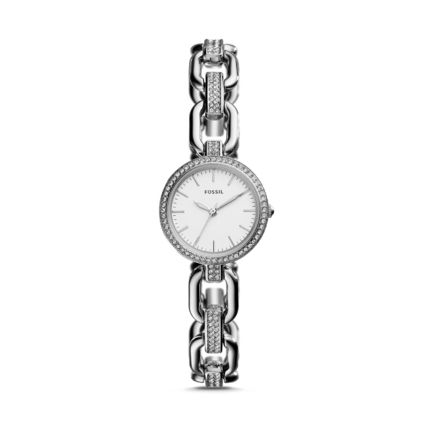 FOSSIL KERSTYN THREE-HAND SILVER  WATCH セール