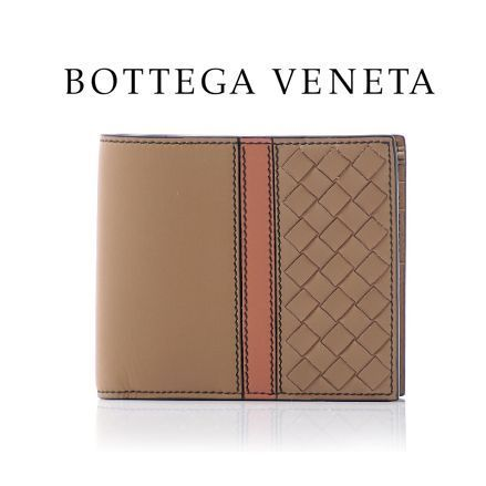 17春夏 ☆BOTTEGA VENETA☆ MATT CALF 折り財布 BROWN♪