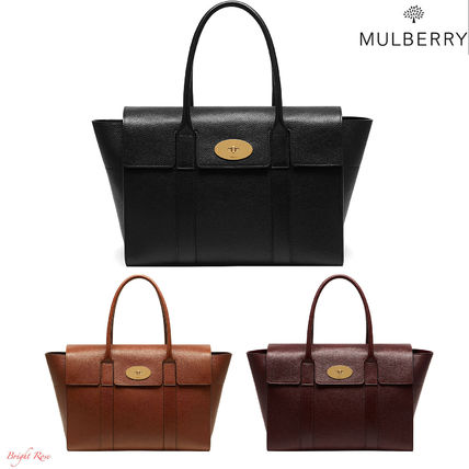 Mulberry トートバッグ 【関税・送料込】Mulberry Bayswater new レザー トートバッグ