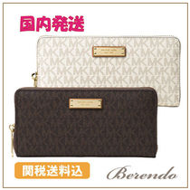 国内発送◆Michael Kors Signature Jet Set Item Zip 長財布