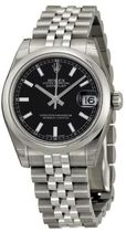 ROLEX Datejust Black Dial Automatic Stainless steel☆