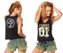 新作♪ZumbaズンバZumba Queen Cropped Jersey-Back to Black