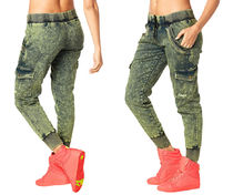 新作♪ZUMBAズンバGet Wild Denim Pants-Zumba Green Denim Daze