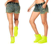 新作♪ZUMBAズンバGet Wild Denim Shorts-Z Green Denim Daze