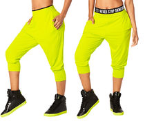 新作♪ZUMBAズンバTeam Zumba Harem Dance Pants-Zumba Green
