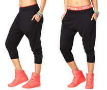 新作♪ZUMBAズンバTeam Zumba Harem Dance Pants-Back to Black