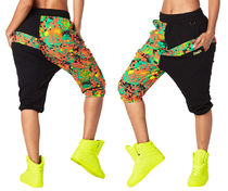 新作♪ZUMBAズンバQueen Of The Jungle Harem Capri Pants-Black