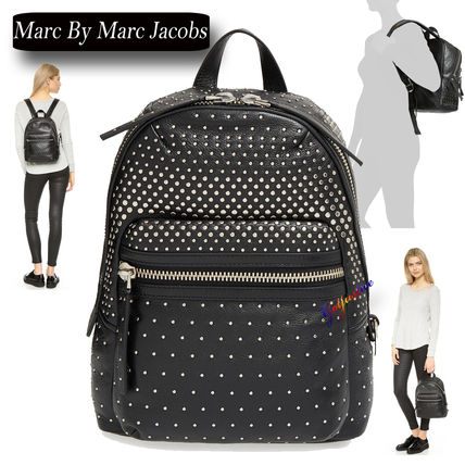 SALE Marc by Marc Jacobs Domo Biker Studded Leather Backpack