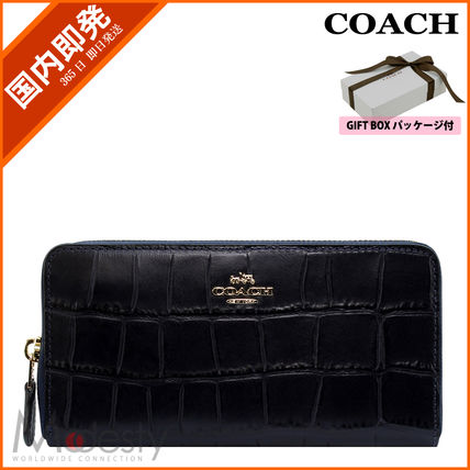 【日本国内即日発送】 COACH F54757 IMMID EMB CROC ACC ZIP