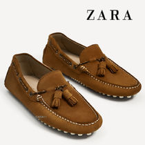 ZARA(ザラ) ドレスシューズ・革靴・ビジネスシューズ ●ZARA●春新作♪BROWN LEATHER LOAFERS♪Leather