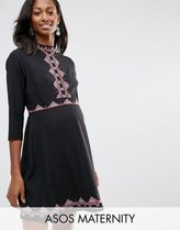 ASOS(エイソス) マタニティウェア・授乳服・グッズその他 ☆ASOS Maternity Skater Dress with Pretty Folk Embroidery☆