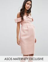 ASOS(エイソス) マタニティウェア・授乳服・グッズその他 ☆ASOS Maternity Bow Cold Shoulder Occasion Dress☆