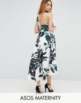ASOS(エイソス) マタニティウェア・授乳服・グッズその他 ☆ASOS Maternity Scuba Palm Print Dip Back One Shoulder Mi☆