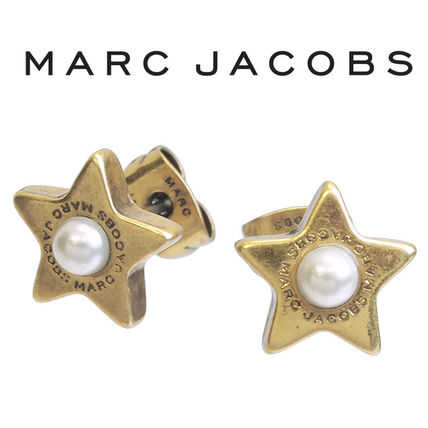 MARC JACOBS ピアス 星 パール M0009237-117 ANTIQUE SILVER