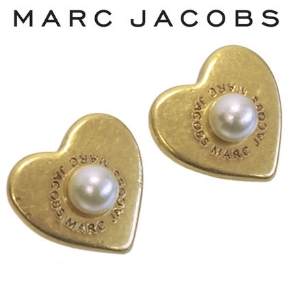 MARC JACOBS ピアス ハート/パール M0008660-795 ANTIQUE GOLD