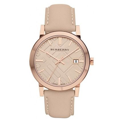 Burberry watches ladies pink leather BU9014
