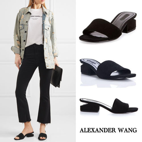 【VIP】数量限定 ALEXANDER WANG LOU SUEDE & LEATHERサンダル