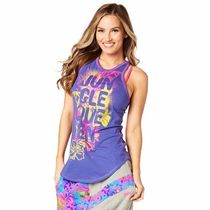 国内在庫 ズンバ Queen Of The Jungle High Neck Tank Purple