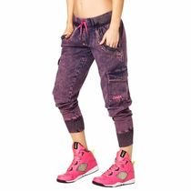 ★国内在庫 ズンバ Get Wild Denim Pants Shocking Pink
