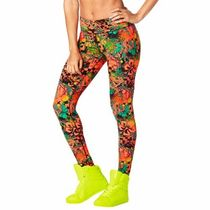 即納 ズンバ Queen Of The Jungle Perfect Long Leggings Green