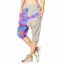 国内発送 ズンバ Queen Of The Jungle Harem Capri Pants Gray