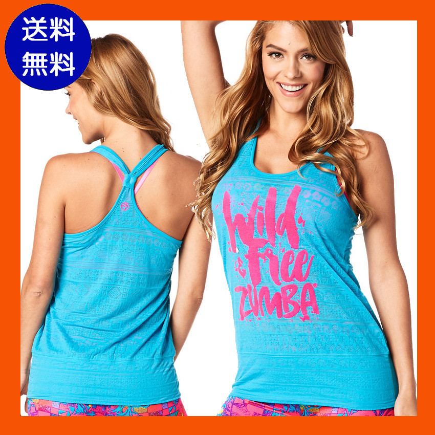 4月新作【送料無料】Wild About Zumba Burnout Bubble Tank
