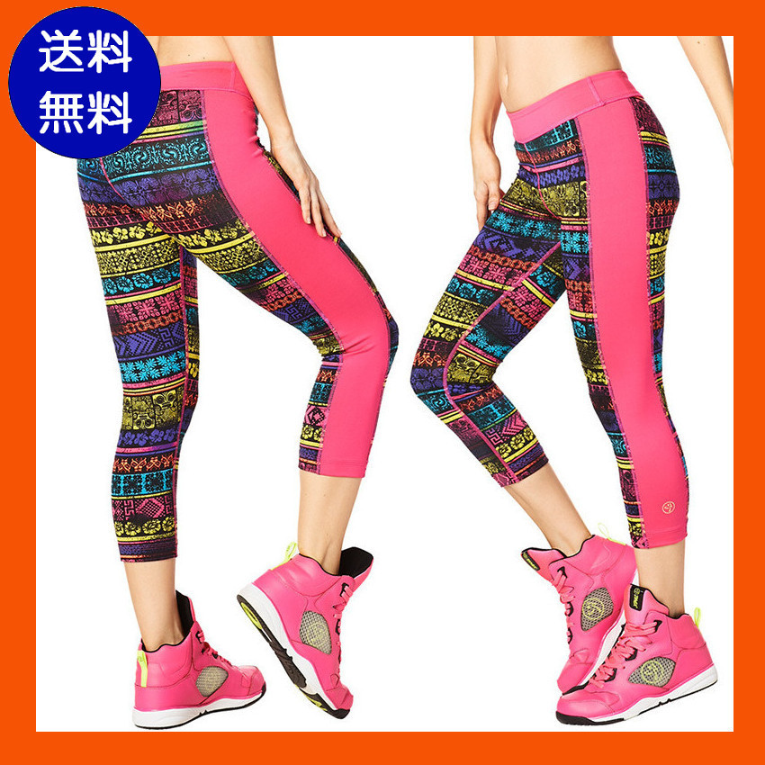 4月新作【送料無料】ZUMBA Let's Escape Capri Panel Leggings