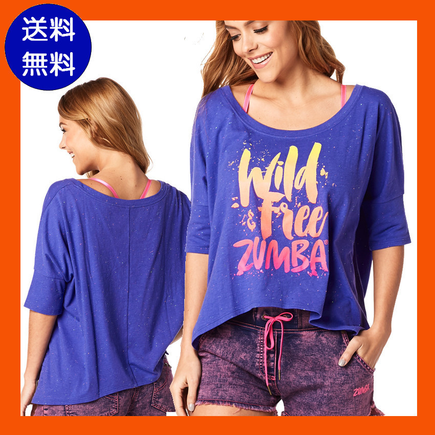 4月新作【送料無料】Wild About Zumba Off the Shoulder Tee