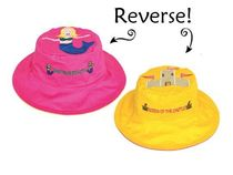 帽子・手袋・ファッション小物 【Reversible Kid's Sun Hat】★Mermaid / Queen of the Castle