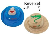 帽子・手袋・ファッション小物 【 Reversible Kid's Sun Hat 】★ Swim Fast / Later Gator