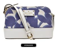 kate spade☆wellesley leaves fabric ショルダーバッグ 国内発