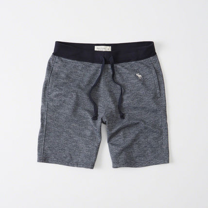 Abercrombie & Fitch mens fleece shorts Navy