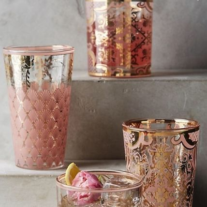 Japan ANTHROPOLOGIE vintage-inspired glass pink