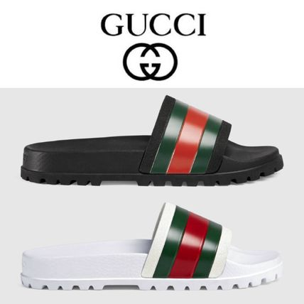 """"" GUCCI retail store purchase WEB Slide Sandals"